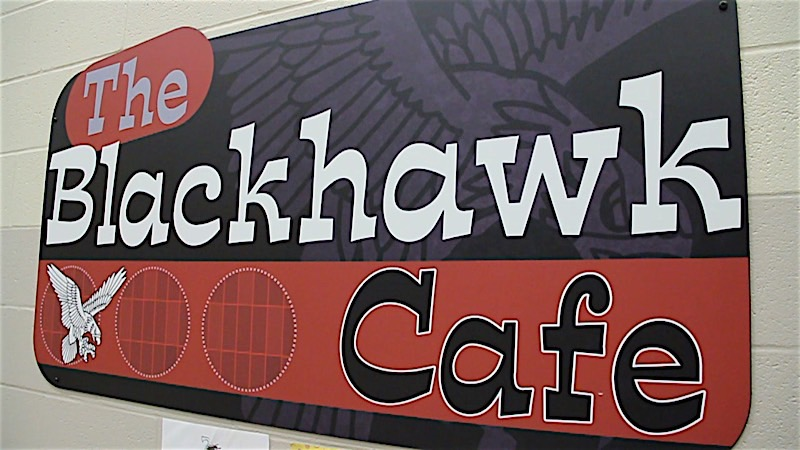 Blackhawk Cafe Sign